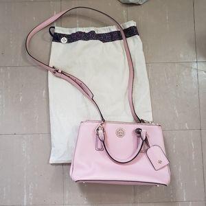 Tory Burch Pink TB Bag Robinson Micro Rose Sachet